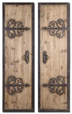 Rustic Wood and Iron Wall Panels