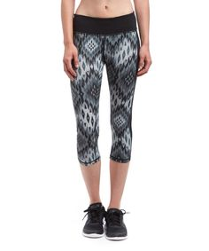 Look at this HEAD Black Geo Mash Up Capri Leggings - Women on #zulily today!