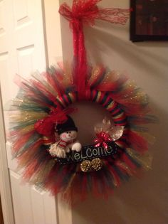Designer Tulle Wreath on Etsy, $40.00