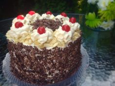 CHOCOLATE MOUSSE BLACK FOREST CAKE Black Forest Cake, Happy Today, Mousse, Chocolate, Desserts, How To Make, Food, Tailgate Desserts, Deserts