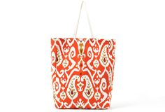 Ikat Tote, Orange on One Kings Lane today