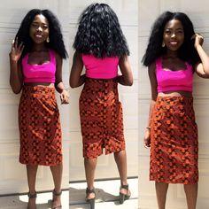 Ankara Pencil Skirt  african print african skirt by Veroexshop