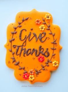 Give Thanks Cookie