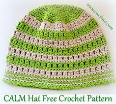 CALM Hat Free Crochet Pattern