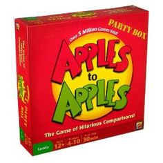 Apples to Apples Party Box - The Game of Hilarious Comparisons (Family Edition).  List Price: $26.99  Sale Price: $22.80  More Detail: http://www.giftsidea.us/item.php?id=b00112chck