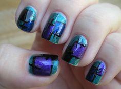 Geometric art nails