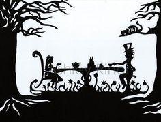 Papercut Art! #Alice In Wonderland #Papercut Art
