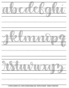 Large Hand Lettering Practice Sheets – Brush Pen – Brush Marker – Water Brush – Crayola – Hand Lette Great hand lettering exercise sheets brush pen by HappilyEverHart Lettering Brush, Brush Lettering Worksheet, Calligraphy Worksheet, Lettering Guide, Brush Pen Calligraphy, Hand Lettering Alphabet, Calligraphy Practice, Calligraphy Handwriting, Calligraphy Letters