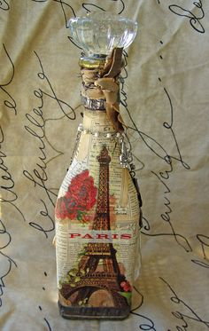 altered bottle by Kathy McElroy, via Flickr