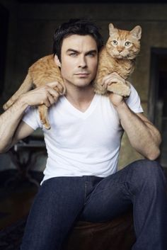 Ian Somerhalder with Moke - People Magazine 2013
