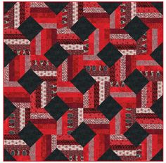 Jelly Roll Quilts, part 1 of 2 (Quilt Inspiration) Jellyroll Quilts, Scrappy Quilts, Easy Quilts, Quilting Tutorials, Quilting Projects, Quilting Designs, Quilting Ideas, Colchas Quilt, Quilt Blocks