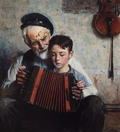 This reminds me of the times Dad played his concertina for me when I was a child.