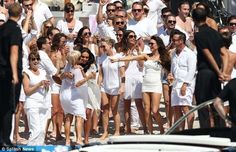 post wedding beach party of Tamara Eccleston