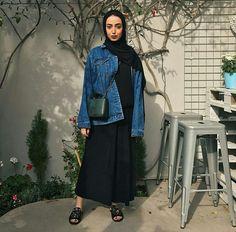 Leenalghouti – M Modern Hijab Fashion, Street Hijab Fashion, Hijab Fashion Inspiration, Abaya Fashion, Muslim Fashion, Modest Fashion, Modest Outfits, Chic Outfits, Fashion Outfits