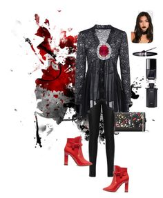 """""""Night club"""" by kmibr on Polyvore featuring WearAll, Valentino, Yves Saint Laurent, Maybelline, Chanel and Gucci"""
