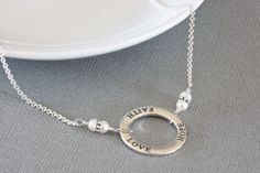 Faith Hope Love Necklace Sterling Silver by ThePassionatePearl, $46.00