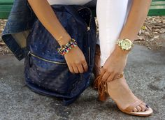 Fringe Zara sandals   La Vie de Villa #fashion #streetstyle #blogger