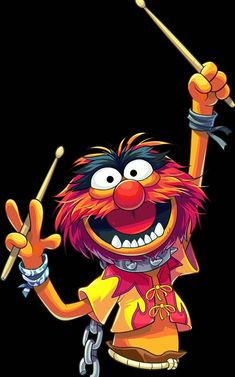 Printing Ideas Useful Cartoon Quotes, Cartoon Art, Cartoon Characters, Das Tier Muppets, Animal Drawings, Art Drawings, Les Muppets, Drums Wallpaper, Animal Muppet