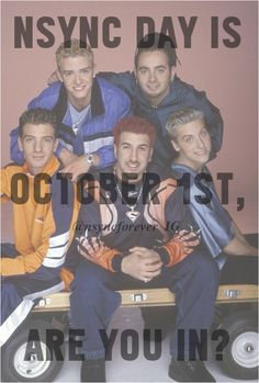 #NSYNC (I don't know what *NSYNC day is but okay!)