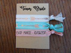 rare élastique personnalisé élastiques EVJF élastiques Arrow Pattern, Team Bride, Custom Ties, Bff, Marie, Bridal Shower, Messages, Birthday, Pink