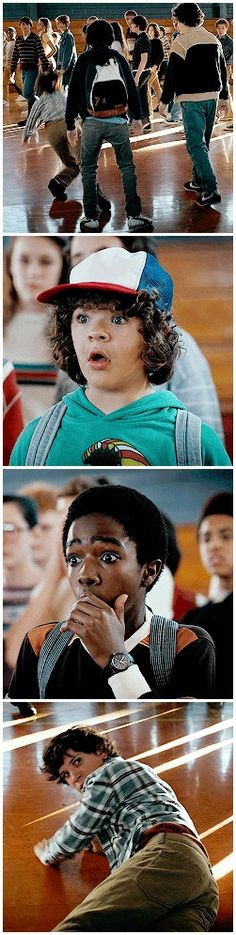 #lets take a moment and appreciate dustin and lucas reaction to a badass mike…