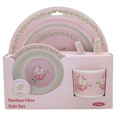 Your toddler's very first dinner set could be this adorable kids set Lily Petit White. This GreenGate dinner set for kids is made of bamboo. Kids Dinner Sets, Latte Cups, Rosa Rose, Dinners For Kids, 1st Christmas, Cloth Napkins, Cutlery, Stoneware, Best Gifts