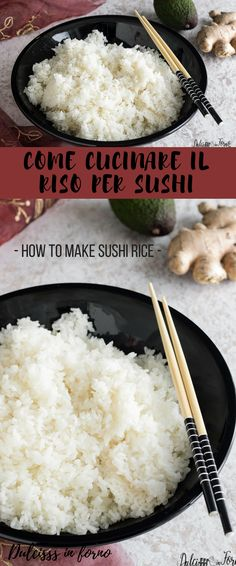 Riso per sushi: come cuocerlo e come prepararlo - How to make sushi rice -  How to cook sushi rice Homemade Sushi, Salty Foods, Oriental Food, Tasty, Yummy Food, 30 Minute Meals, Toddler Meals, Meals For Two, Organic Recipes