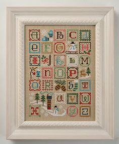 Winter Alphabet--new pattern by Lizzie*Kate @amanda, I want to do this sooooooo badly! WINTER STITCHING!!!