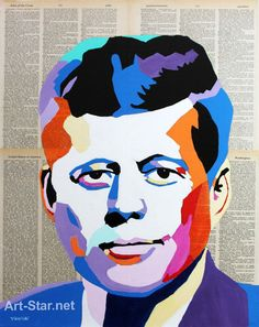 JOHN F KENNEDY Original Painting Hand Painted by PaintingsbyVenus