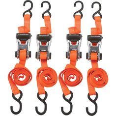 You can never have enough ratchet straps! SmartStraps RatchetX Lightweight Aluminum Tie-Downs — 14ft.L, 3000-Lb. Breaking Strength, 4-Pack, Orange, Model# 349 | Ratchet Tie-Down Straps| Northern Tool + Equipment
