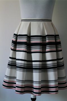 Silk skirt, striped silk skirt, pleated skirt, Mini Skirt, tailored Skirt, Midi skirt, summer skirt, skirt 50 Years