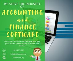 We generate quality financial software leads.With the combined efforts of e-mailers, callers and a vast database of target contacts, we can get in touch with specific decision makers such as: C-level executives,Technology officers,Certified Public Accountants, HR managers. Call us +60 3.2772.7370 for more info.