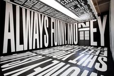 BARBARA KRUGER, EXHIBITION L&M ARTS LOS ANGELES 2011: i once saw #barbara_kruger on campus at ucla. that's the whole story. in other news: this is an awesome typography blog. #typetoken #exhibition