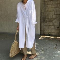 Ideas Style Hijab Outfit Colour For 2019 Fashion Mode, Modest Fashion, Look Fashion, White Fashion, Korean Fashion, Modest Wear, Modest Dresses, Hijab Outfit, Mode Outfits