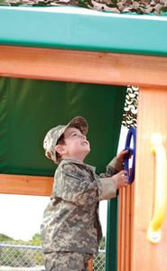 The Make A Wish foundation always has a moving and inspiring goal! Heart-warming photo from @Make-A-Wish America: Four-year-old Louis, who has Burkitt's lymphoma, wished for an Army fort.