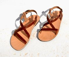 Handmade Roman Grecian leather sandals-NEW COLOR by AnaniasSandals