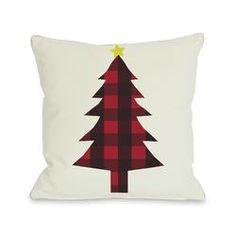 One Bella Casa Plaid Christmas Tree Throw Pillow & Reviews | Wayfair.ca
