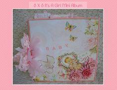 Handmade Premade Baby Girl  8 X 8 Mini by BeautyOfHandmade on Etsy