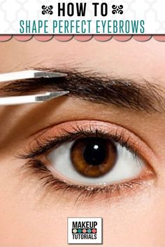 Not sure how to achieve the perfect eyebrows? Check out this article that shows you not only eyebrow shapes, but how to shape eyebrows like the pros.