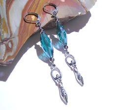 Yule Goddess Crystal Earrings Holiday Jewelry by MoonMajickStudio