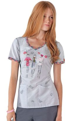 Dickies Breast Cancer Awareness Women's V-Neck Print Top