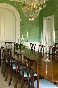 a traditional dining room.....