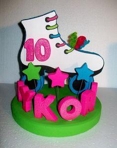 ROLLER+SKATING+3D+Custom+Cake+Topper+PERSONALIZED+by+TishToppers,+$39.00