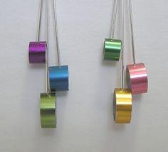 Knitting needle earrings.  What an interesting idea!