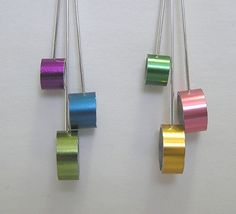Knitting Needle Earrings. Cool Idea.