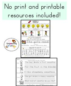 This is THE MEGA OCCUPATIONAL THERAPY TELETHERAPY RESOURCE YOU NEED TO SUPPORT YOUR STUDENTS THAT INCLUDES BOTH NO PRINT AND INCLUDES PRINTABLE RESOURCES TO MAKE PACKETS! No print resources (12 resources) and Printable resources or screen share for students to complete at home on own paper (19 resources) Pediatric Occupational Therapy, Handwriting Practice, Google Classroom, My Teacher, Social Skills, Pediatrics, Writing Prompts, Students, Love You