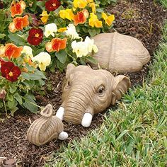 Design Toscano In For a Swim Elephant Lawn Sculpture - Garden Statues at Hayneedle Elephant Love, Elephant Art, Elephant Stuff, Elephant Jewelry, Elephant Sculpture, Elephant Gifts, Elephant Shower, Elephant Design, African Elephant