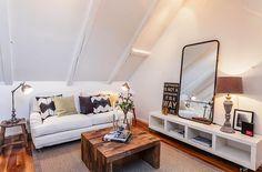 Einrichtungsideen Dachschrägen Ein Appartement in Stockhom Skandinavischer Einrichtungsstil
