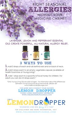 lemons, allergy relief, young living oils, essential oils, allergy remedies, young live, essenti oil, allergies, live essenti