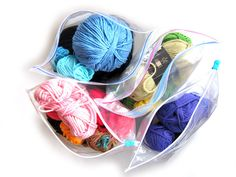 How to organize your scraps of yarn.